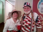Kathie Johnson and Roger Svatos are Uncle Sam and Aunt Samantha.