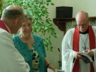 Dr. Leins with Mary and Pastor George Clausen