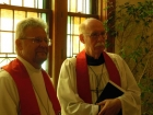 President Sommerfeld with Pastor George Clausen