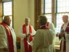 Pastor Dan, President Sommerfeld, Pastor Dave Palomaki, and Dr. Curtis Leins